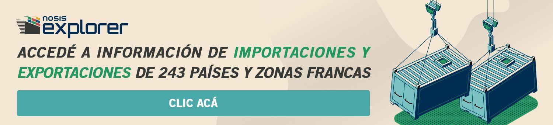 Informes de exportaciones e importaciones con Nosis Explorer