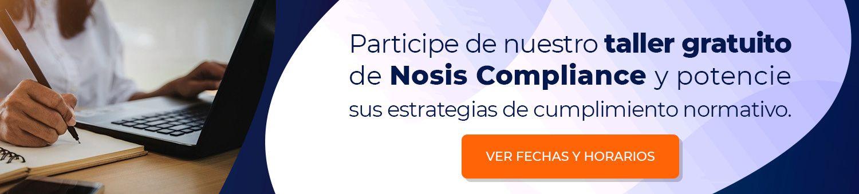 Participe del taller de Nosis Compliance
