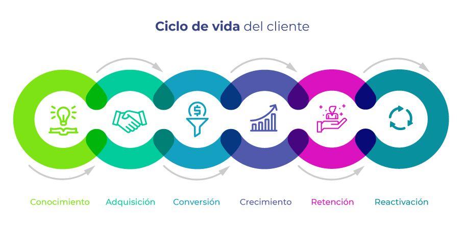 Etapas del ciclo de vida del cliente